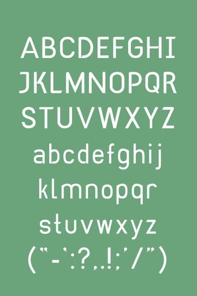 Din Dong Type Specimen - Allison Berels