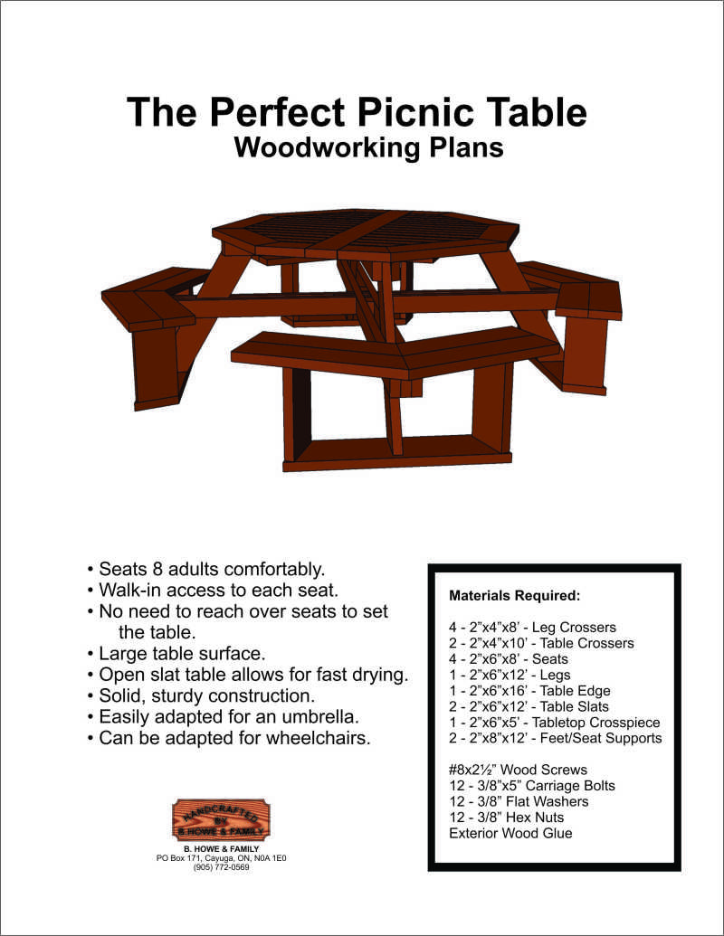 Diy Plans For Octagon Picnic Table
