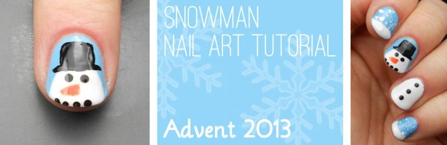 Advent Tutorial: Snowman | She Who Does Nails