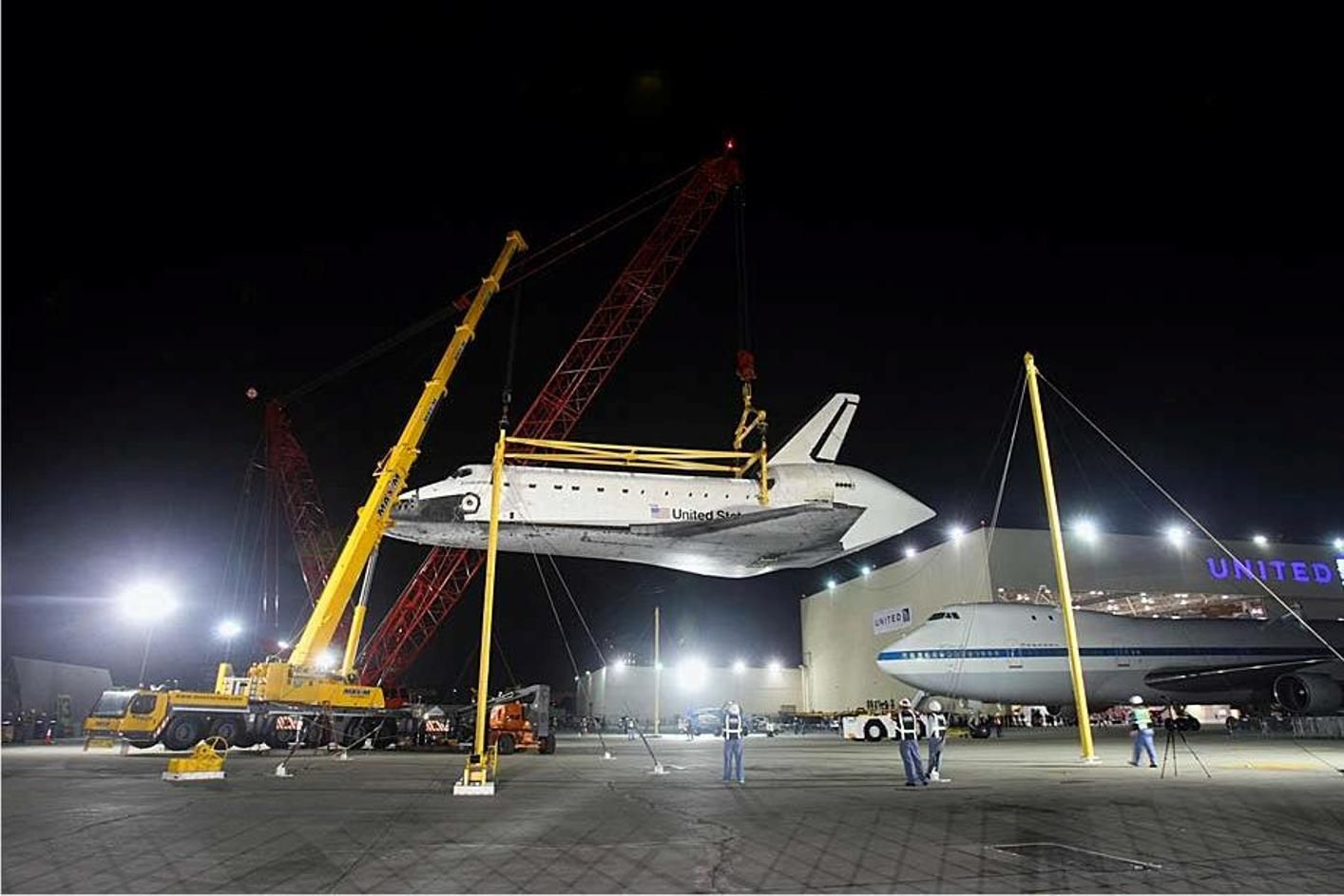 Shuttle is off the NASA 767 awaiting her ground