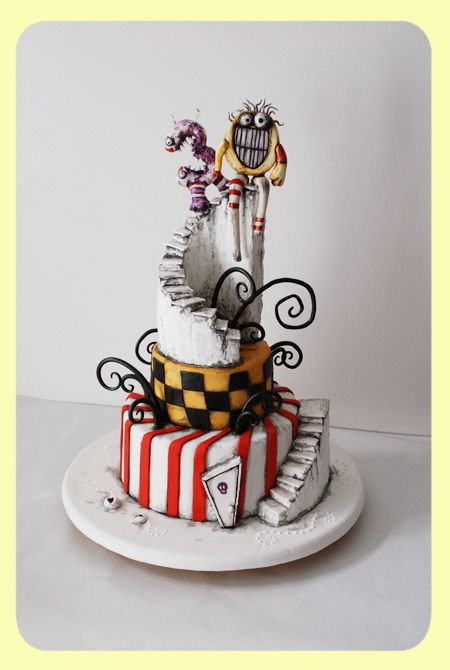 Tim Burton inspired cake.