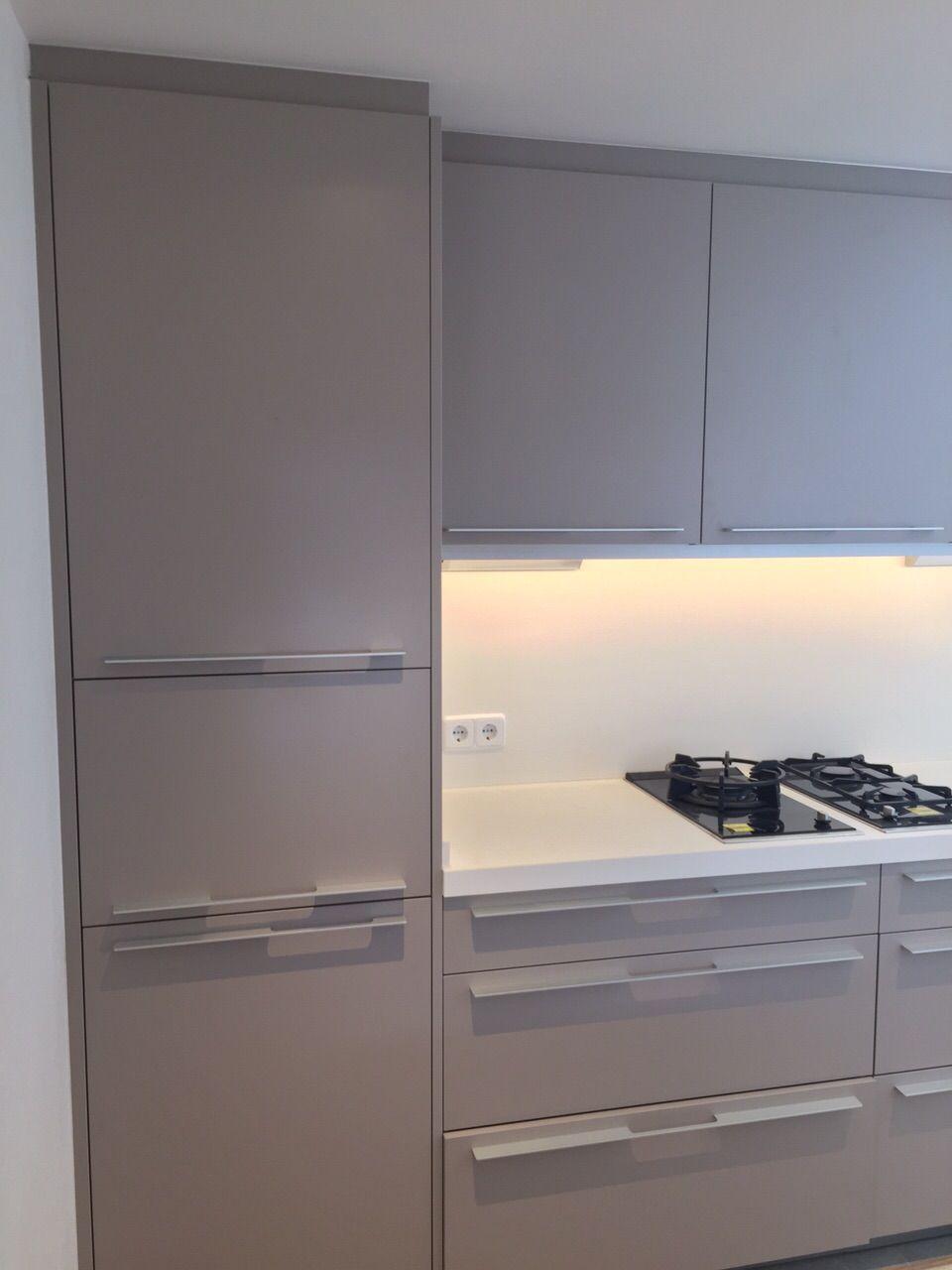 Cocina Santos Modelo Seda En Acabado Gris Arena 252 Con Tirador  # Muebles Seda Murcia