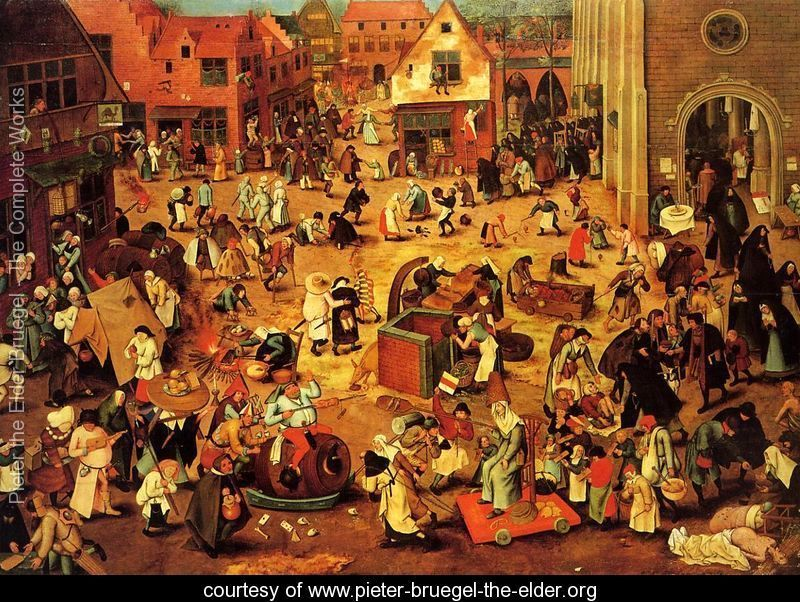 The Battle between Lent and Carnival - Pieter the Elder Bruegel - www.pieter-bruegel-the-elder.org