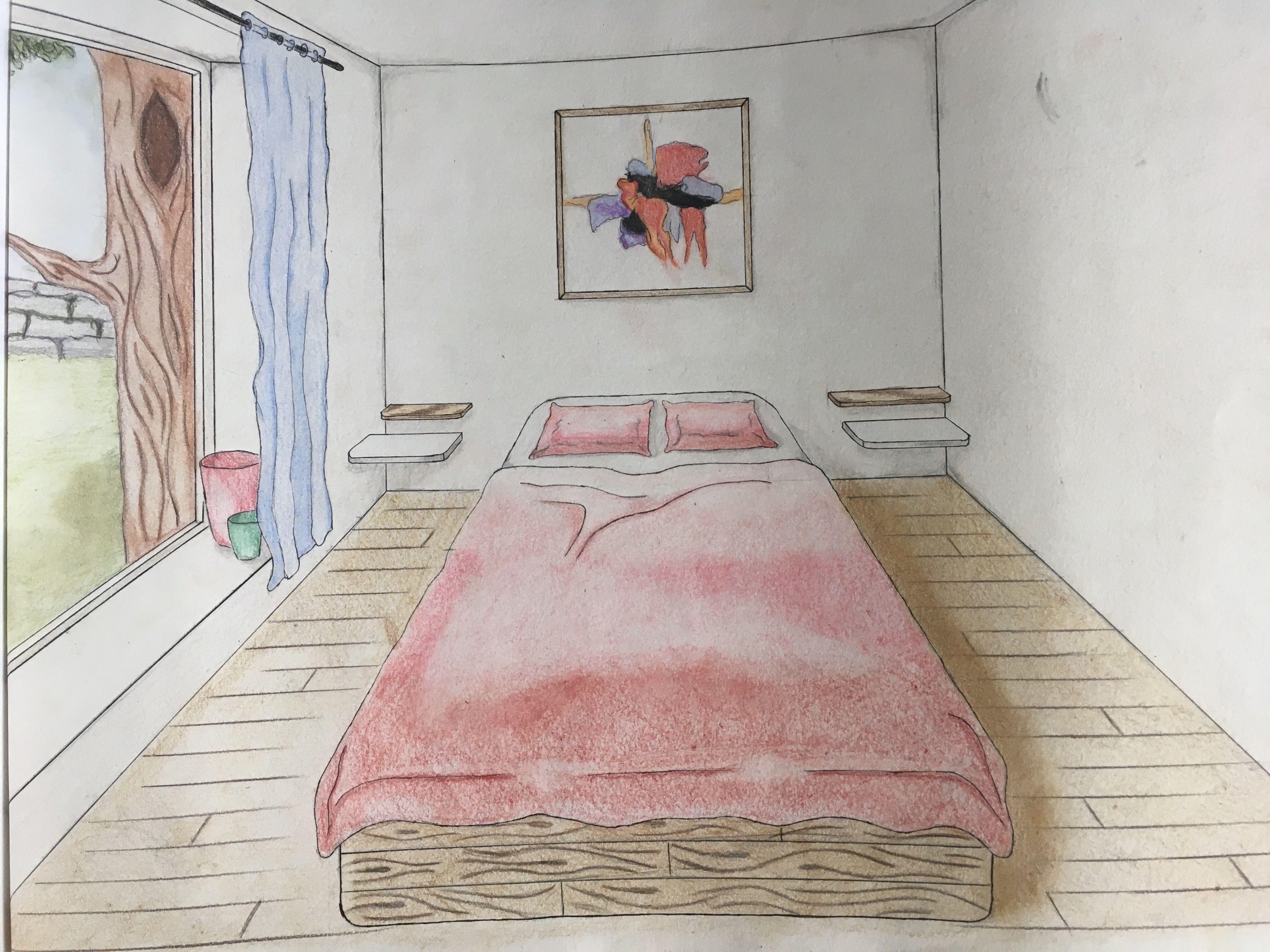 Tekening Slaapkamer ~ Wandaanzicht slaapkamer project tools