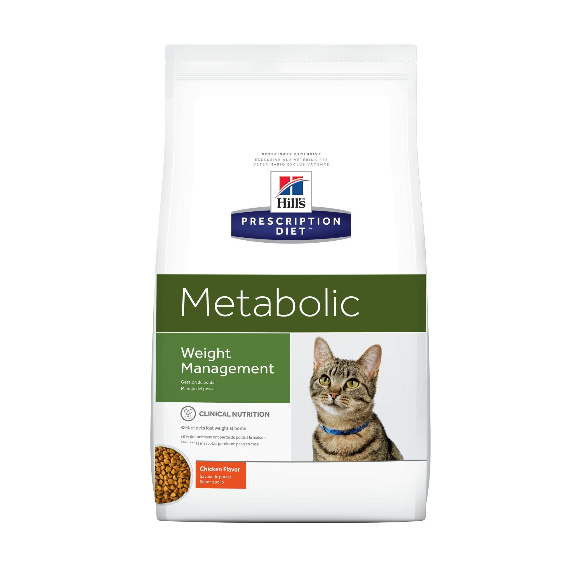 Hill S Prescription Diet Metabolic Weight Management Chicken Flavor Dry Cat Food 8 5 Lbs Bag Dry Cat Food Cat Food Food Animals