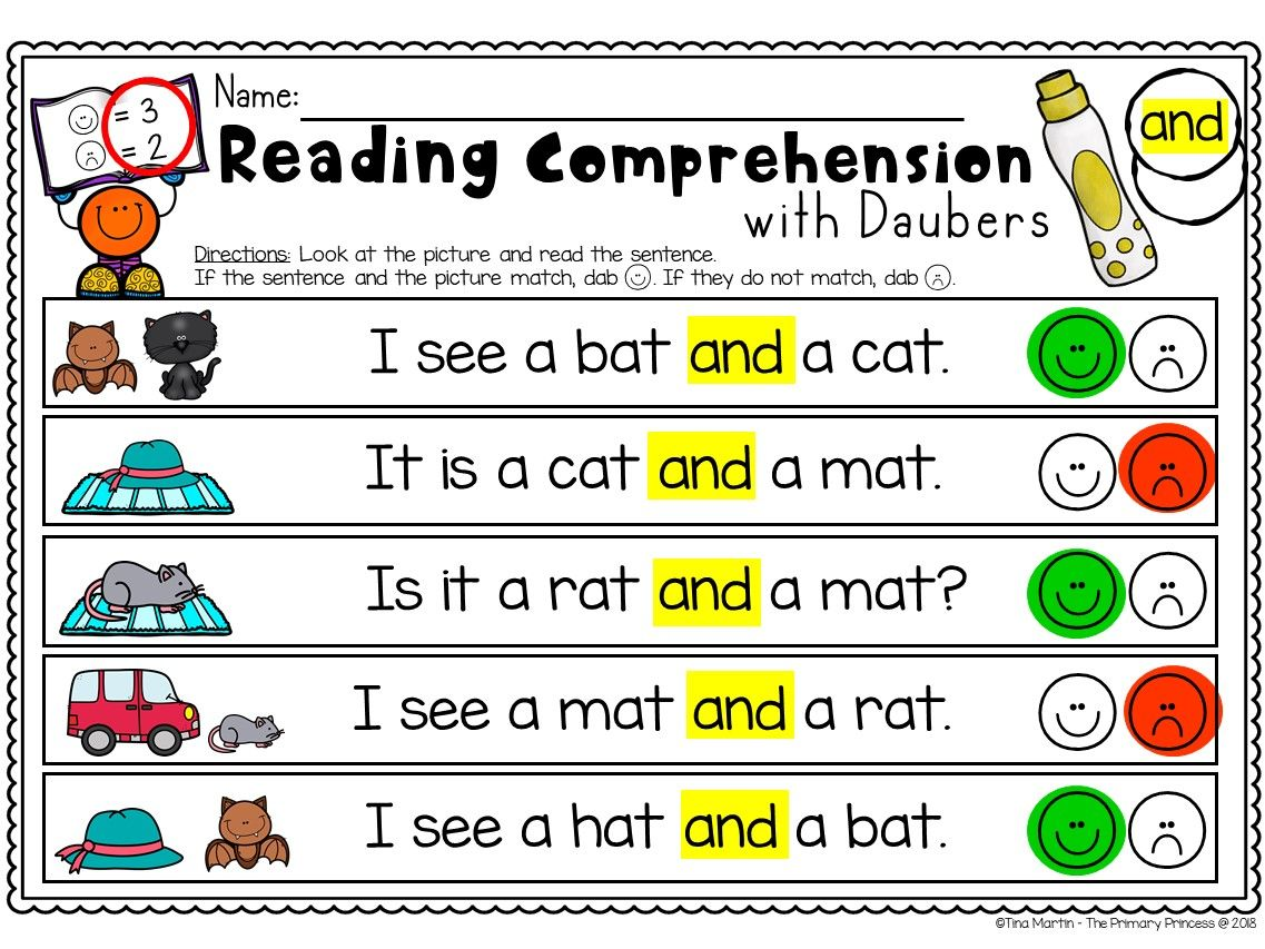 Sight Words Reading Comprehension Reading Comprehension Sight Word Reading Pre Primer Sight Words Sight words reading comprehension