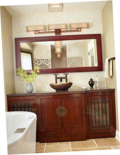 Vintage Bathroom Cabinets Maple Wood