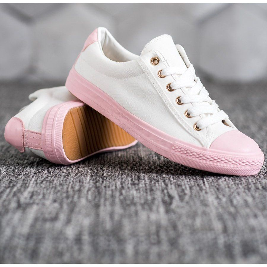 Exquily Kolorowe Trampki Biale Sneakers Casual Shoes Women Colorful Sneakers