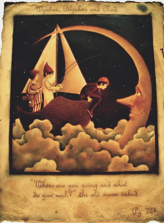 Have Loved Wynken Blynken Nod Since The Cradle Moon Artwork Moon Art Moon Illustration