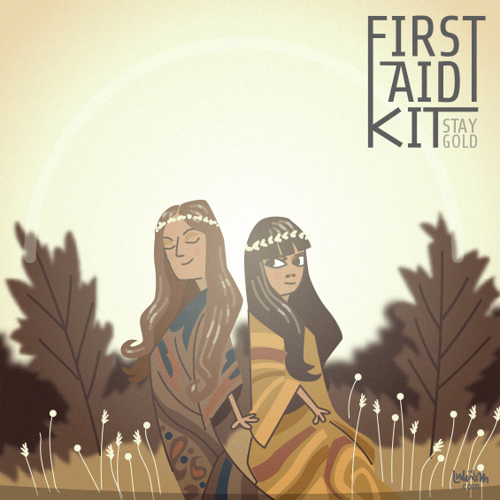 Imaginary cover art for First Aid Kit's album Stay Gold - personal work. by Luke Seguin-Magee