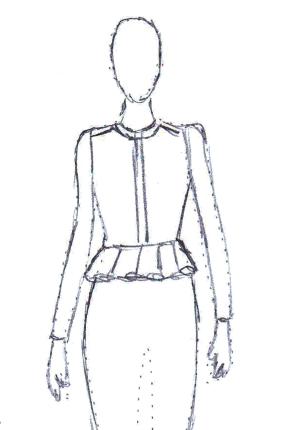 Peplum Dress Fashion Illustration Fashion Design Classes Fashion Illustration Dresses Online Clothing Boutiques