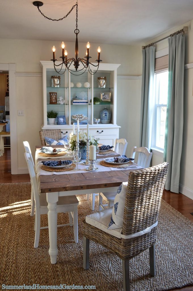Summerland Homes & Gardens  Turquoise And House New Beachy Dining Room Sets Design Decoration