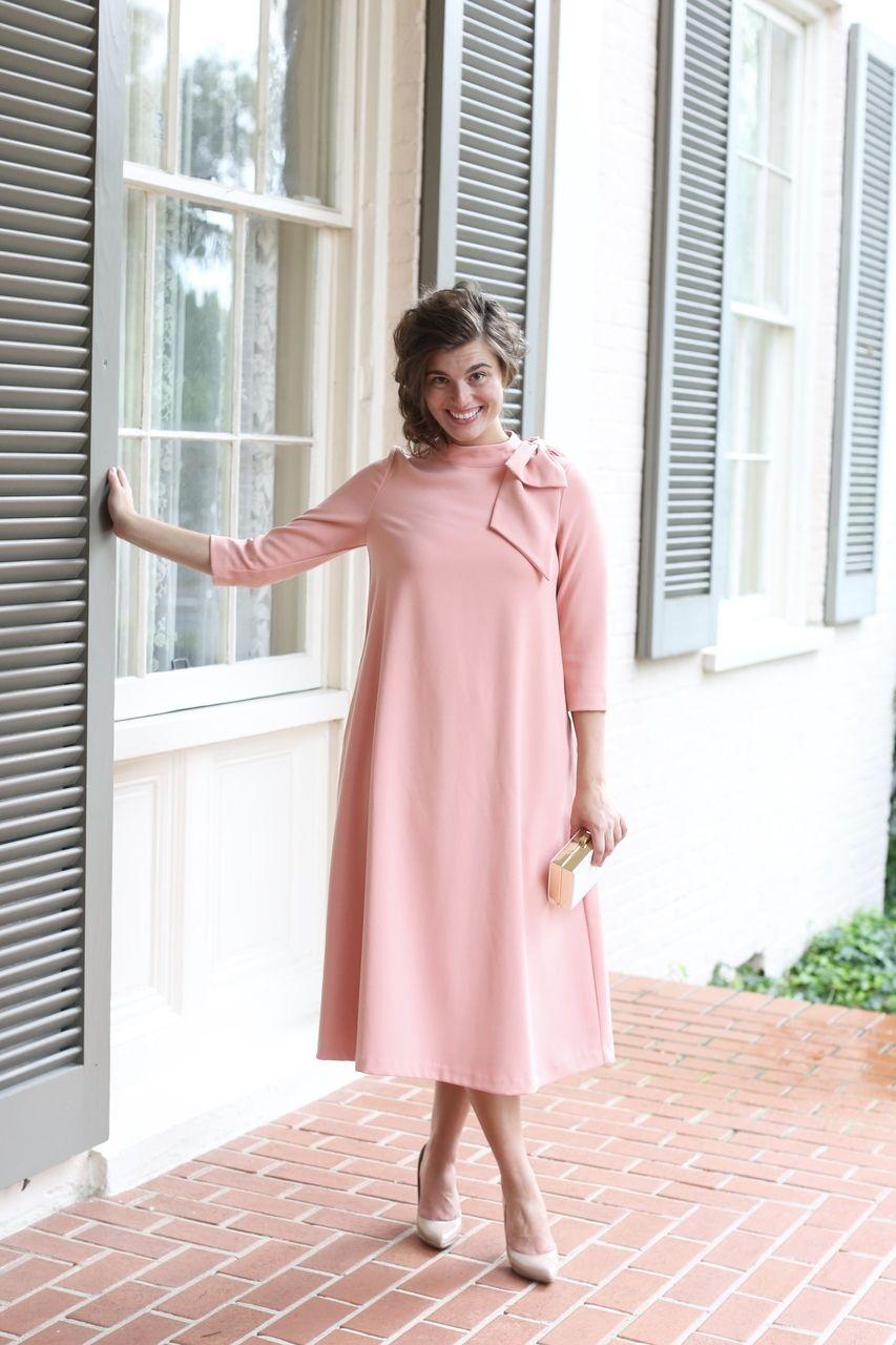 Parisian Poise Dress in Peach | Vestiditos