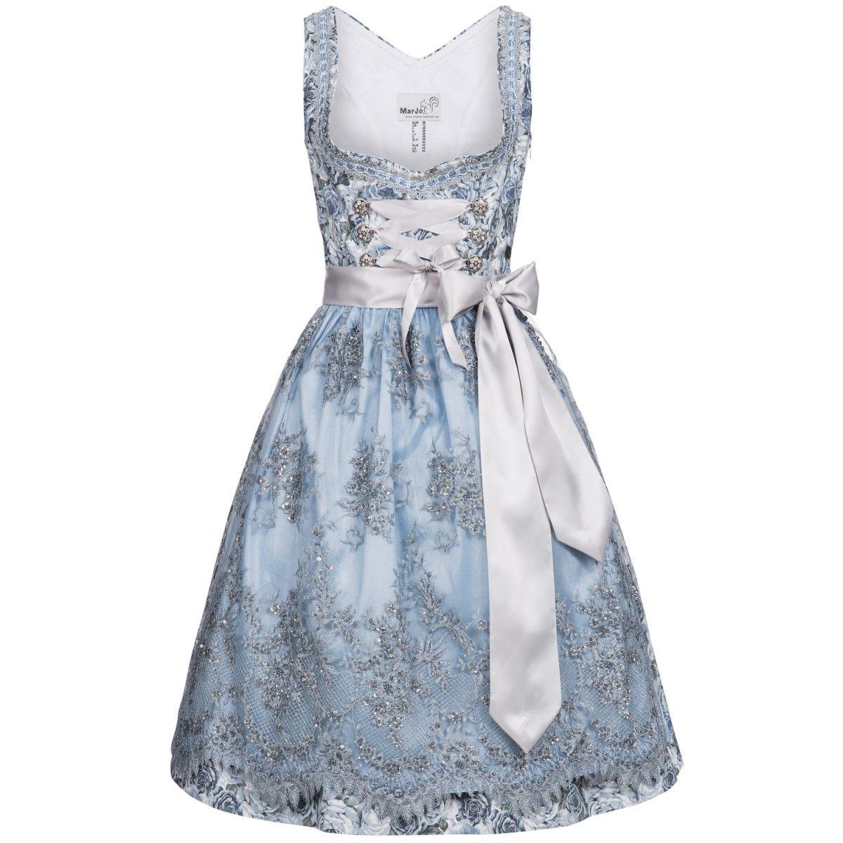 midi dirndl becky in hellblau von marjo trachten kleider pinterest hellblau trachten und. Black Bedroom Furniture Sets. Home Design Ideas