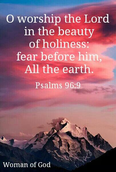 Oh Worship The Lord In The Beauty Of Holiness Tremble Before Him