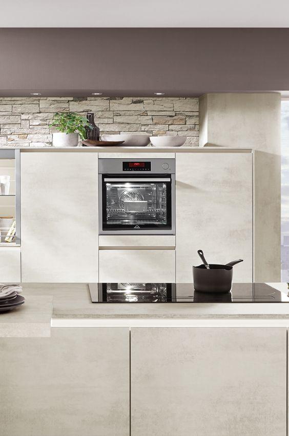 Beton Weiß statt Beton Grau - der neue Betonton für die Küche - neue türen für küchenschränke