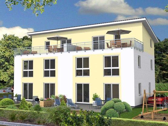 Top Doppelhaus Pultdach | Mehrfamilienhaus | Haus ideen, Haus und NZ55
