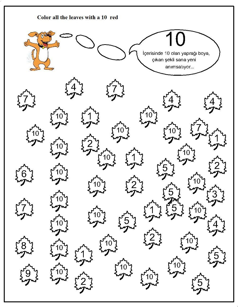 number hunt worksheet for kids 1 leren tellen pinterest