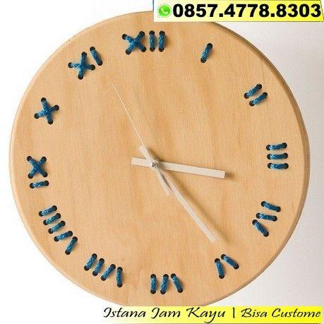 Jam Dinding Kayu Jati Minimalis 1d15218205