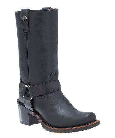 Loving this Black Galinda Leather Boot - Women on #zulily! #zulilyfinds