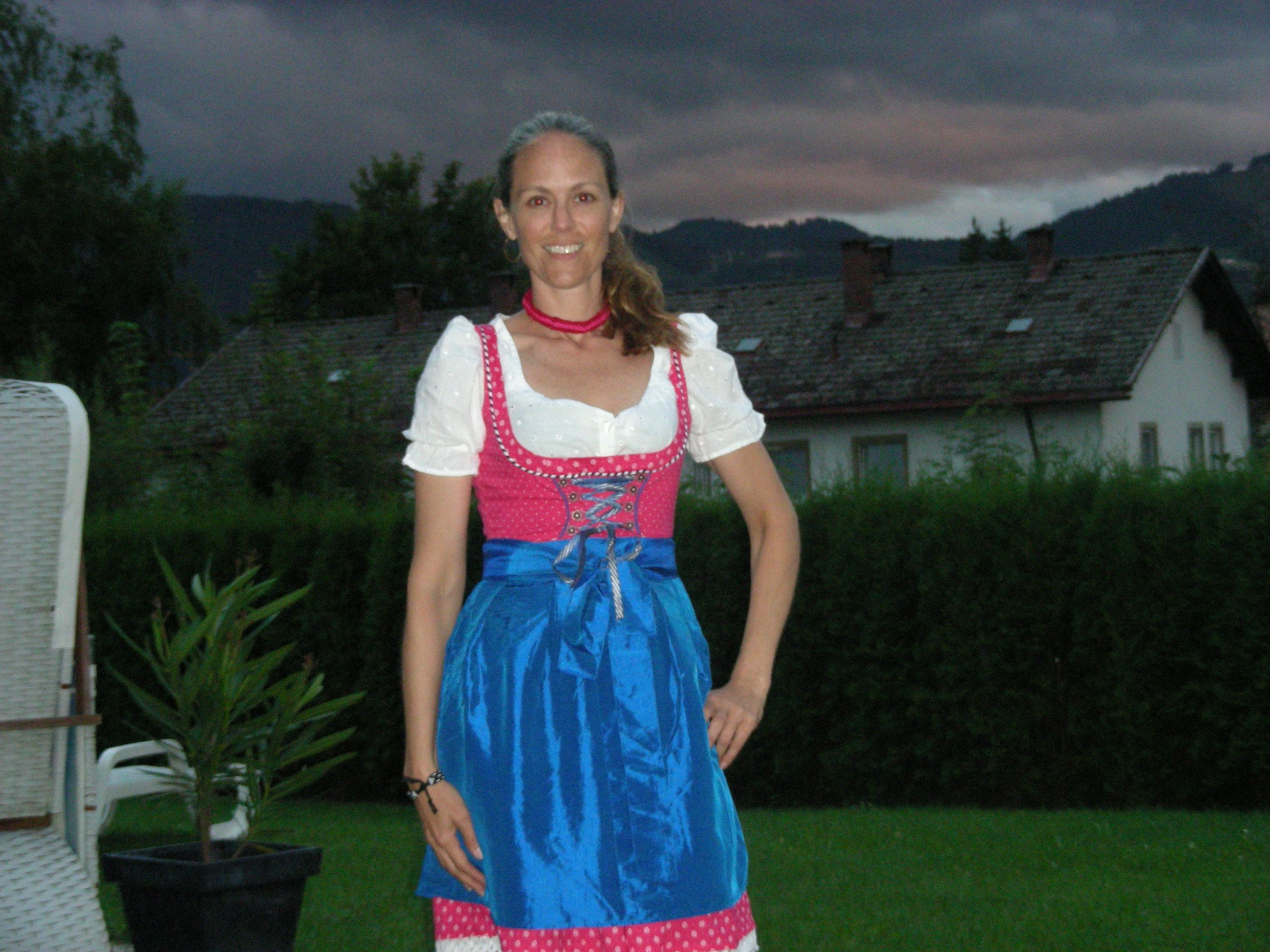 German Girls in Bavaria. Wow, look at that sky!