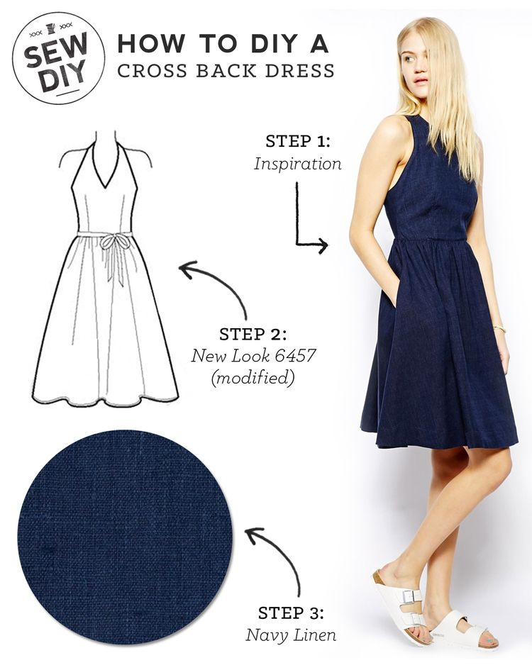 DIY Outfit – Cross Back Dress   SEWING FOR THE LADYS   Pinterest ...