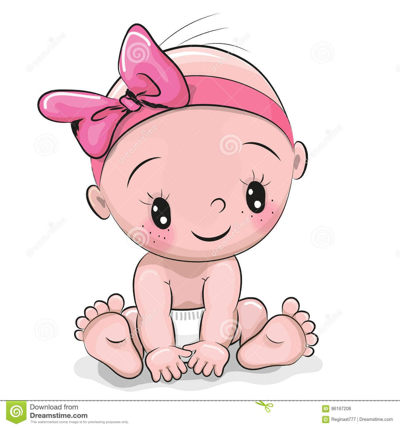 Cute Cartoon Baby Girl Download From Over 57 Million High Quality Stock Photos Images Vectors Sign Up Baby Cartoon Drawing Baby Girl Drawing Baby Painting
