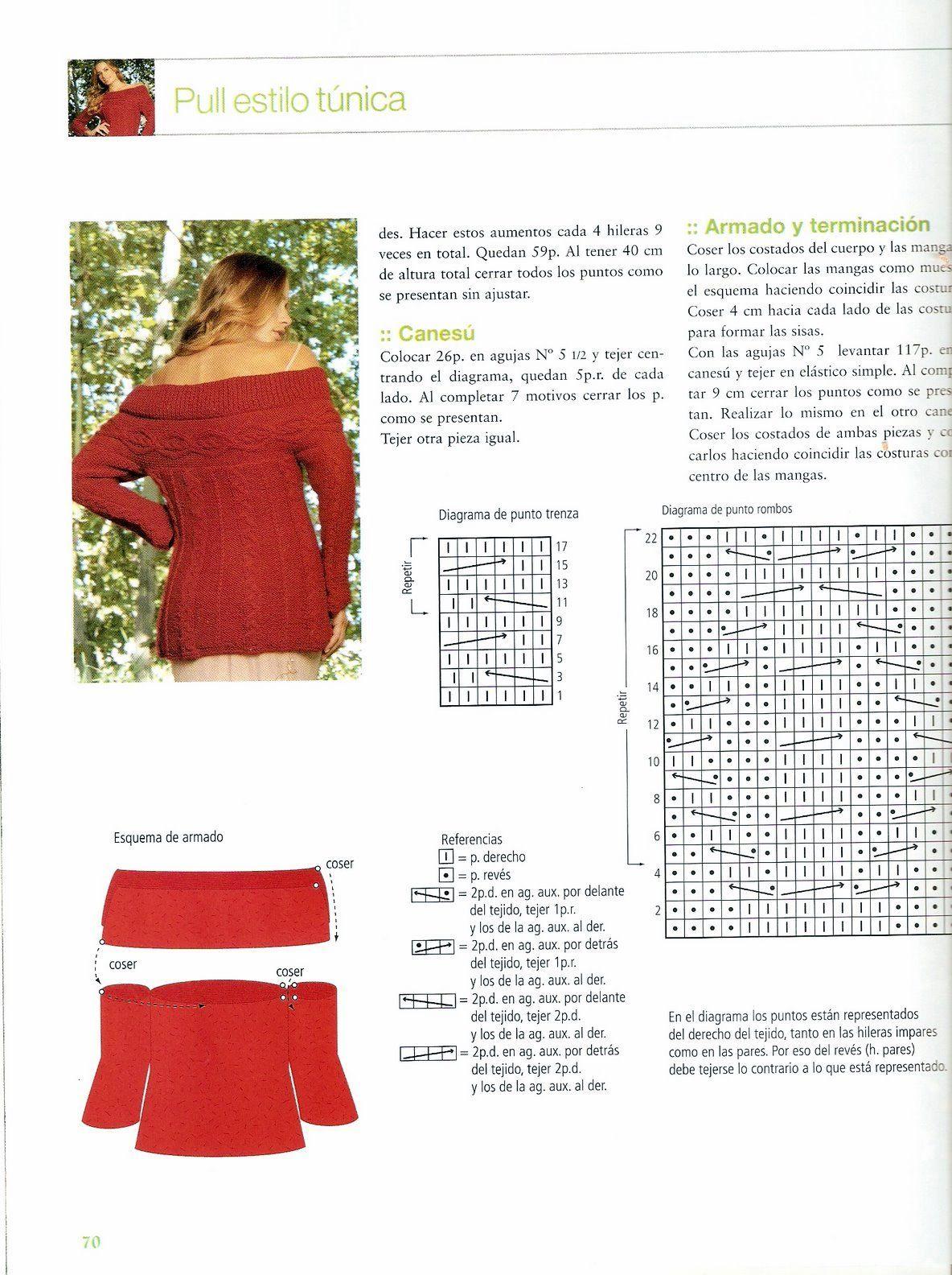 2-+Pulover+o+Sueter+Estilo+Túnica+(2).jpg (1184×1584) | punto de ...
