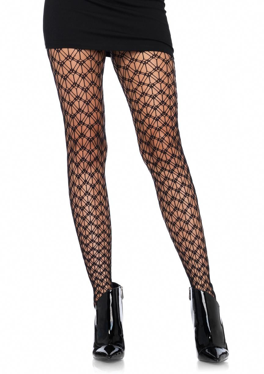5d1e3450977 Leg Avenue Women s Geo Net Thigh High Hosiery Stockings