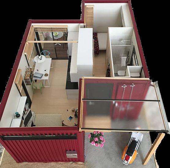 Comment Construire Une Maison Container En France Planete Deco A Homes World In 2021 Container House Building A Container Home Shipping Container Home Designs