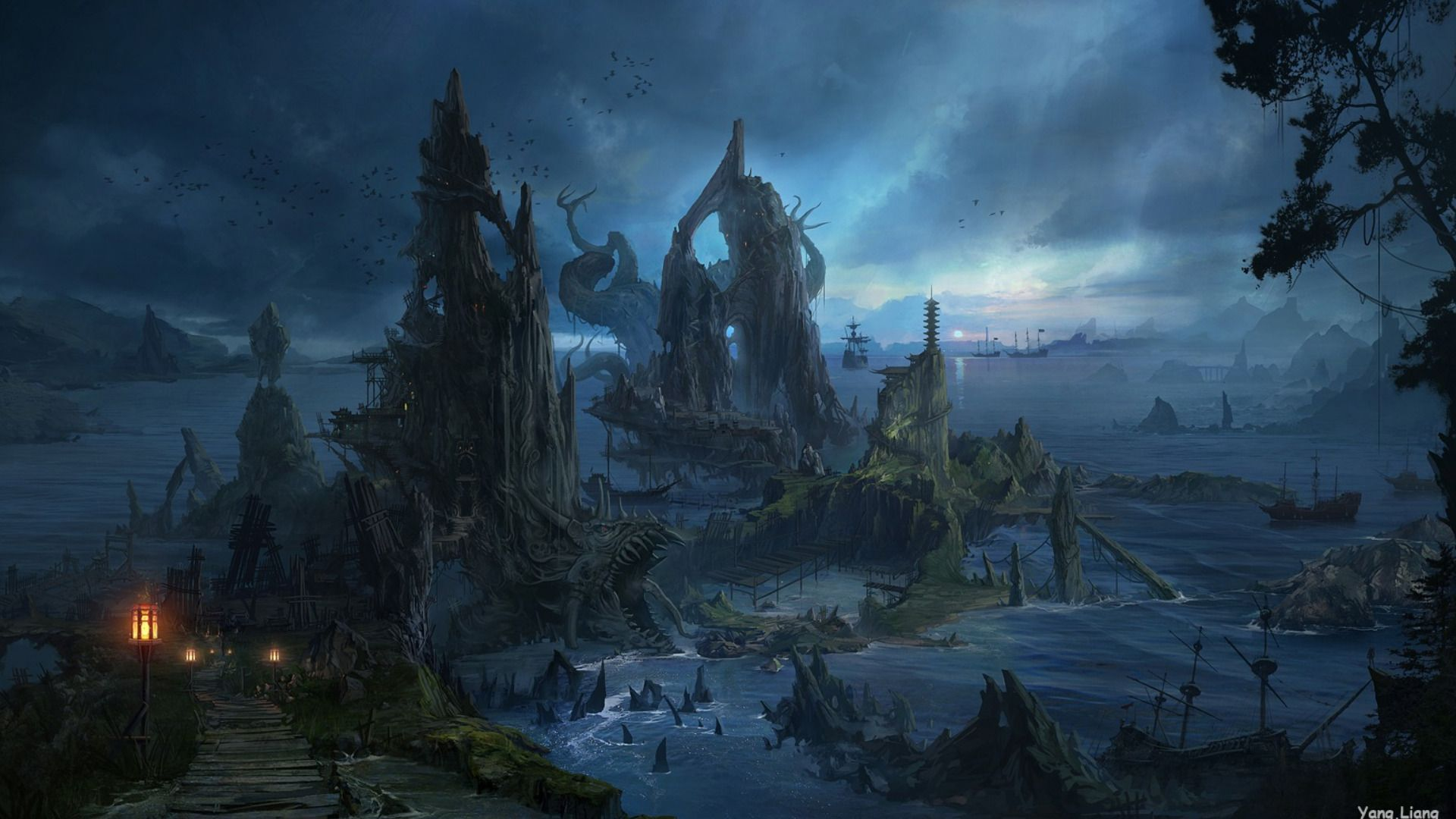Images For Epic Fantasy Landscape Wallpapers In 2019