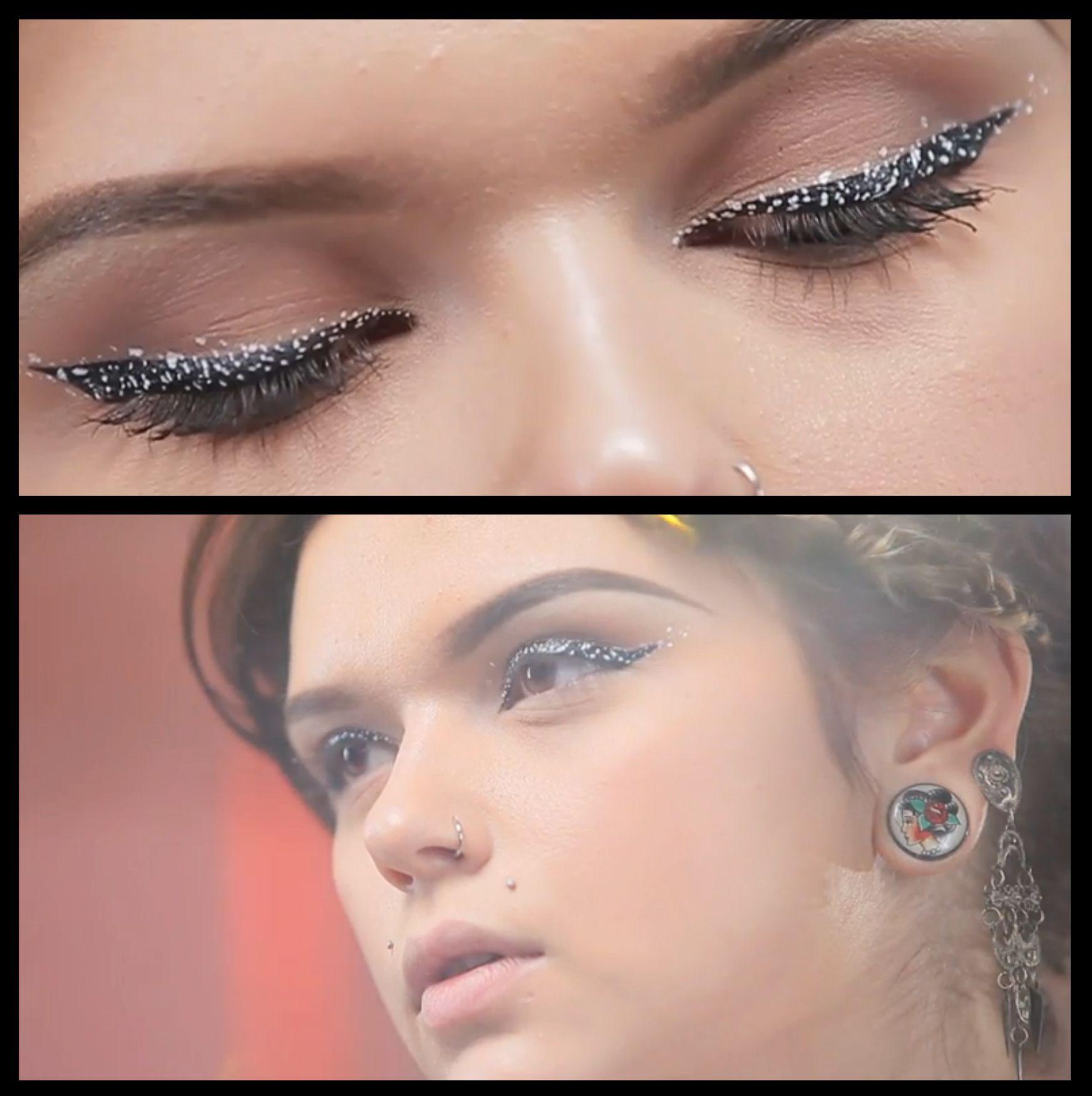 Eyeliner speckled tutorial