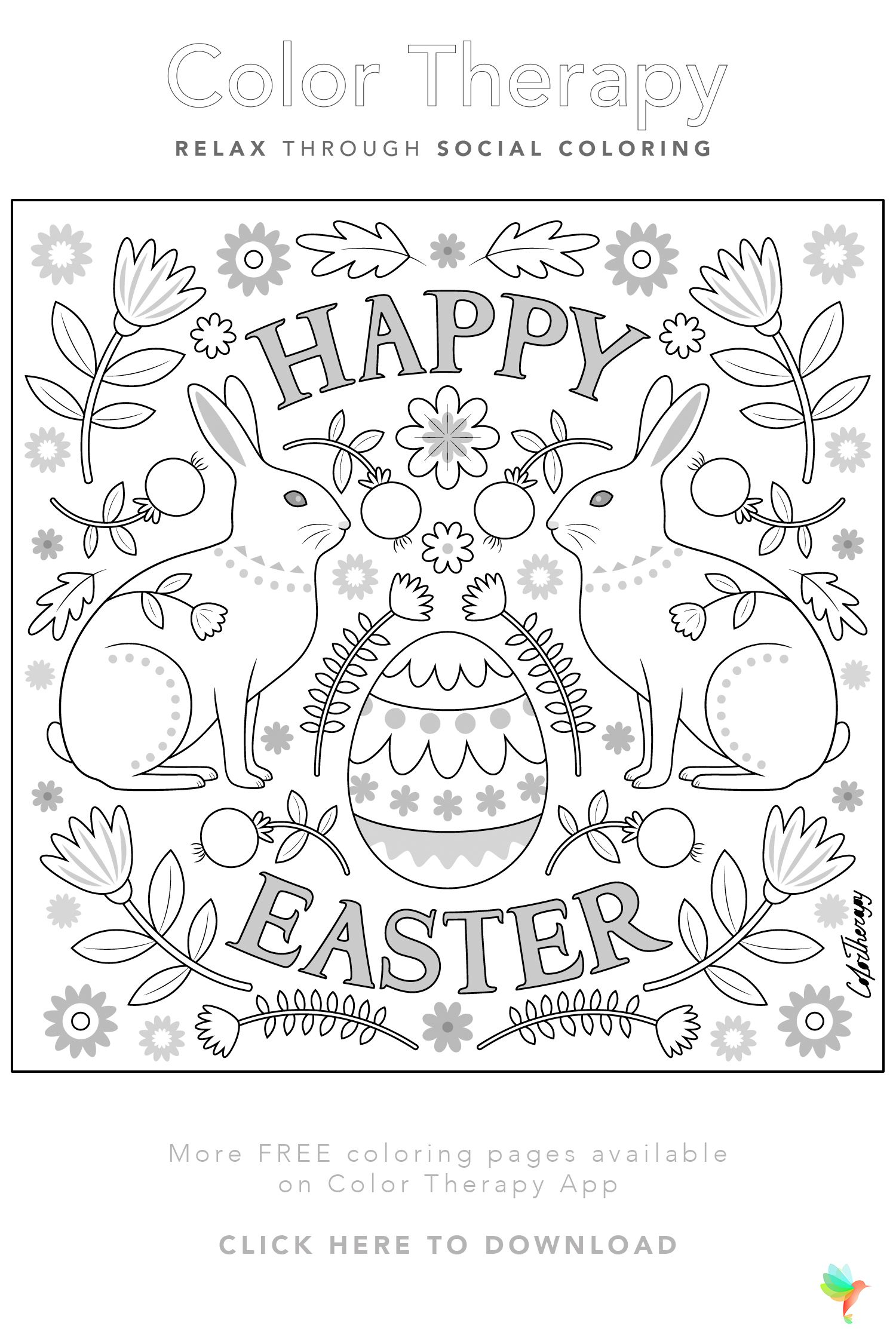 Color Therapy Gift Of The Day Free Coloring Template Coloring Pages Free Coloring Pages Color Therapy