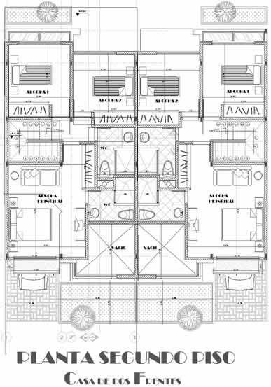 planos de casas pareadas