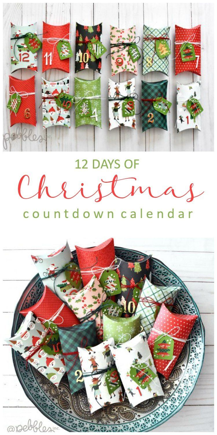 12 Days Of Christmas Paper Countdown Calendar Christmas Countdown Calendar Christmas Countdown 12 Days Of Christmas