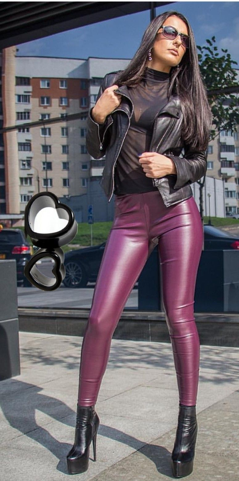 0ee38089cfc88c Shiny Leggings, Leather Leggings, Black Leggings, Leather Boots, Sexy Latex,  Platform