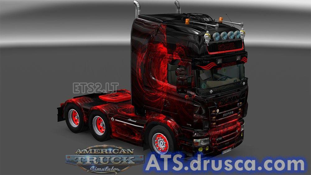 Dark fire Scania skin | ATS mods | Ets 2 mods, American