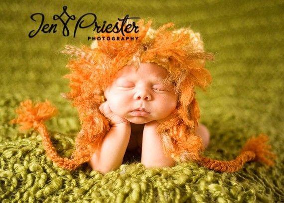 Little Lion Earflap Hat by britt6934 on Etsy, $30.00