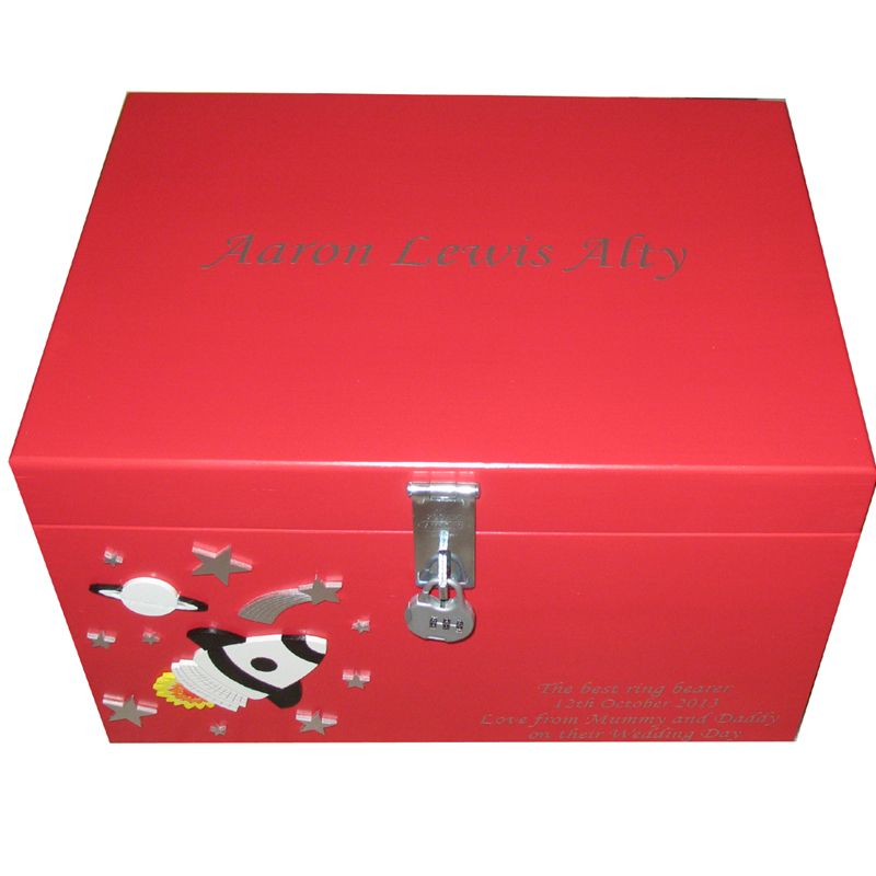 Boys extra large wooden keepsake or memory box with