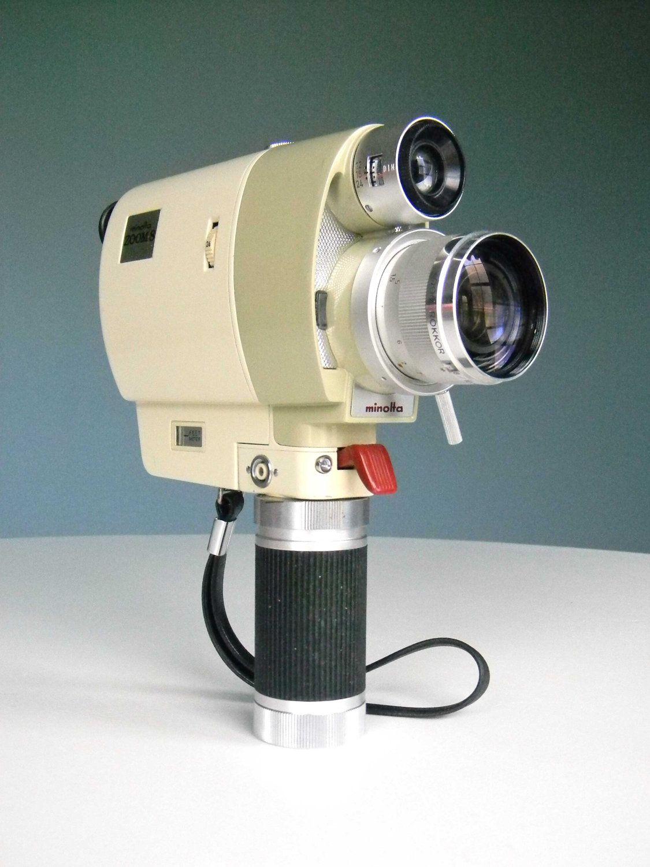 Vintage 8mm Movie Camera - Minolta Zoom 8 with Original Case