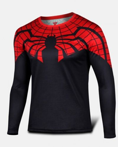 962df4ef Superior Spider Man black long sleeve shirt Ultimate Spider-Man tee shirt  for men-