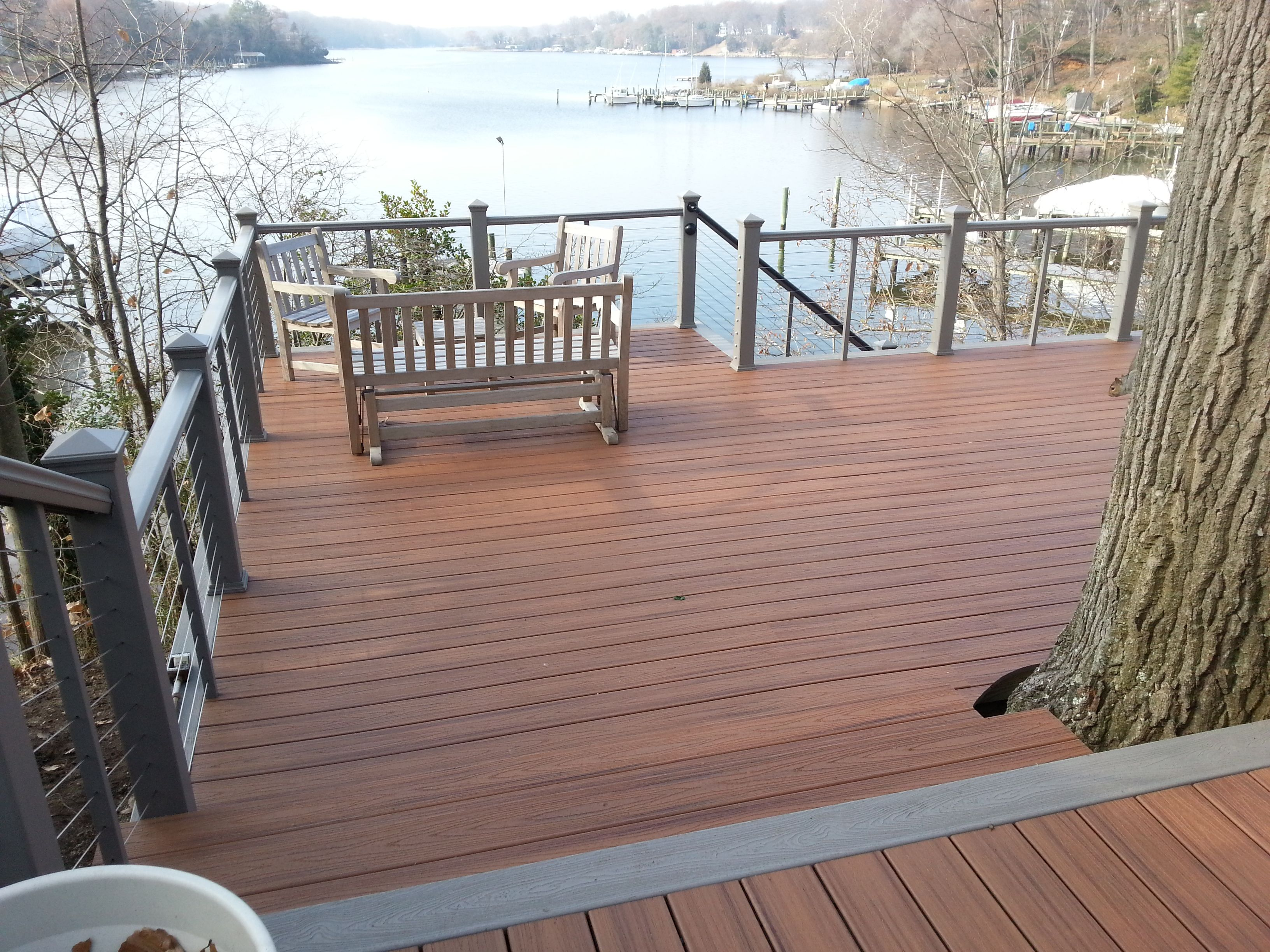 It Doesn T Get Much Better Than Decking Right On The Water Built By Trexpro Rz And Deck Connection Fence In Millersville Md Check Out