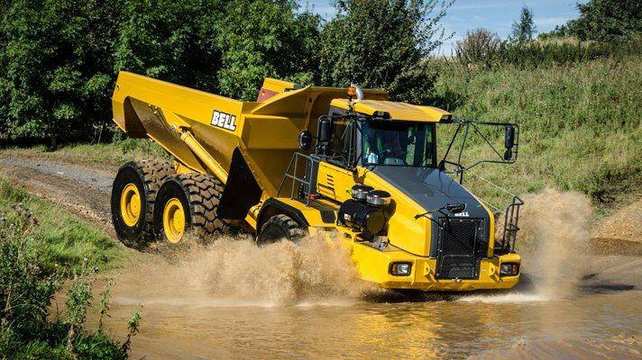 big truck.Bell B-Series articulated dump truck   Construction Equipment   Big trucks, Trucks ...