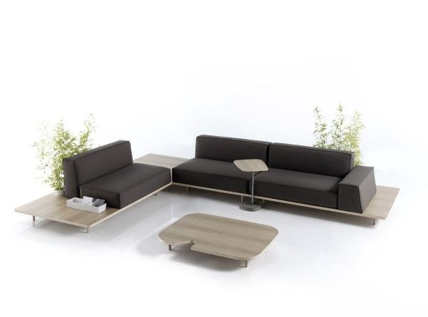 Simple And Comfortable Modular Sofa Design Ideas With Coffee Table
