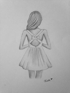 drawing of bow at the back dress  Google Search  dibujos