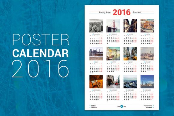 Poster Calendar   Calendars  Stationery Templates And