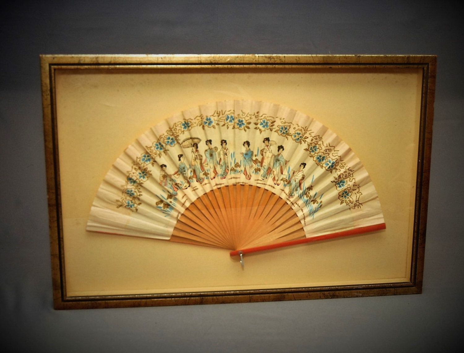 Vintage Japanese Fan - Circa 1940s - Japanese Decor - Japanese ...