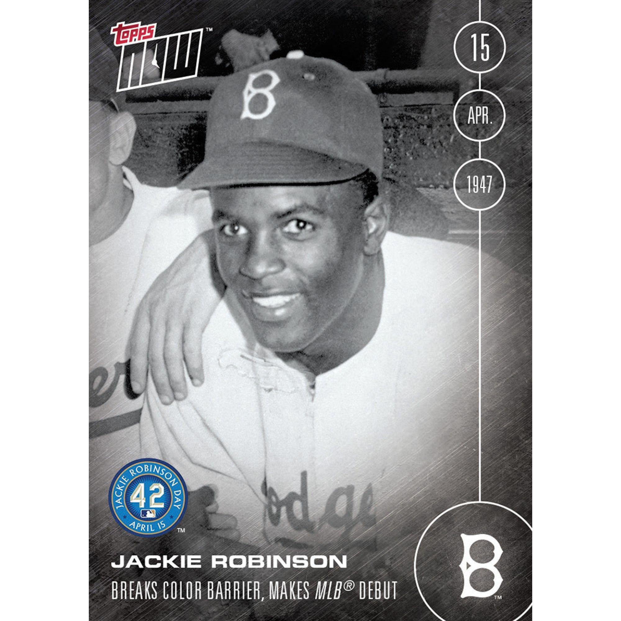 Jackie robinson 41516 topps now card 21 print run