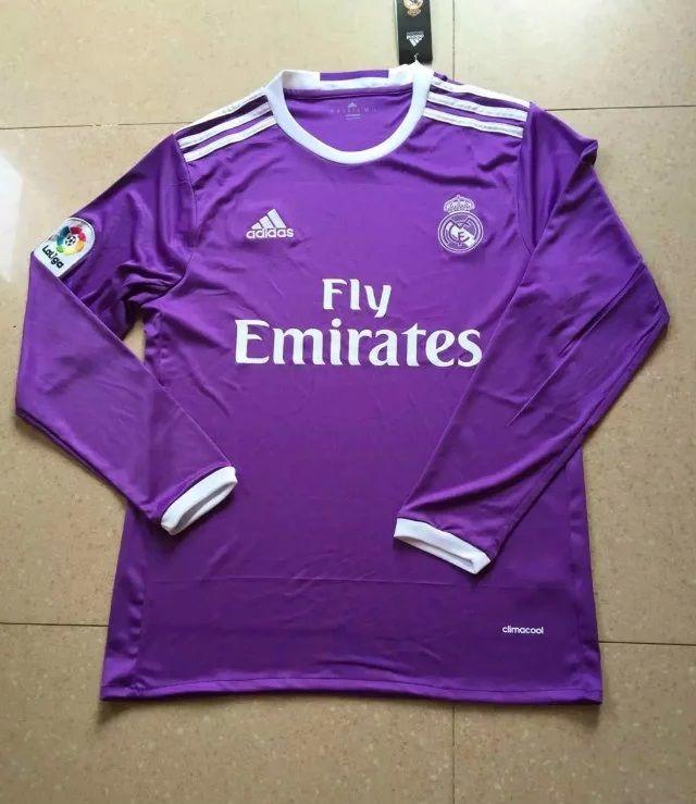 Real Madrid 16 17 Purple Longsleeve Jersey Real Madrid Soccer Real Madrid Ronaldo