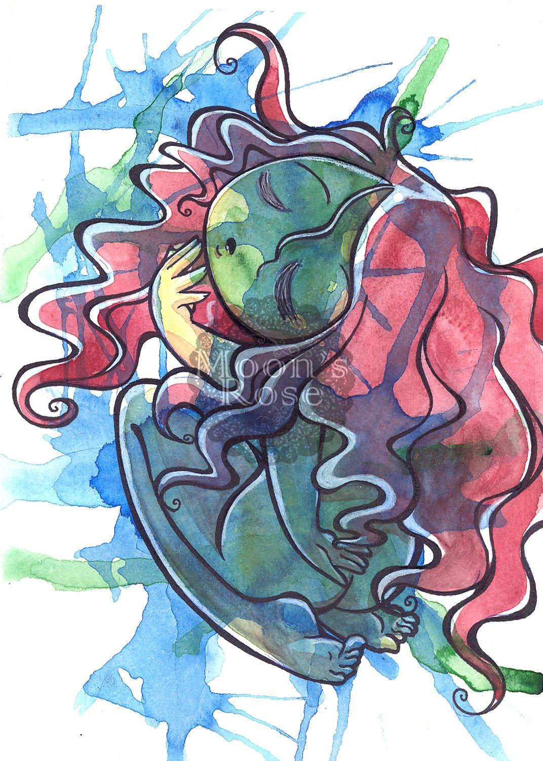"""""""Dream"""" Penna, uniposca e acquerello su carta"""